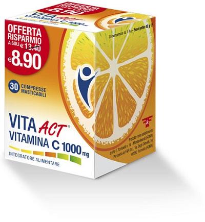 DONAZIONE VITA ACT VITAMINA C 1000 MG 30 COMPRESSE MASTICABILI - Farmaci.me