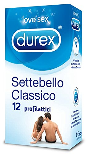 Durex Linea Classica Settebello Cassico Condom Confezione con 12 Profilattici - Zfarmacia