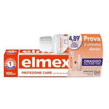 ELMEX CARIE SPECIAL PACK 1 DENTIFRICIO ELMEX CARIE 100 ML + 1 COLLUTORIO ELMEX CARIE 100 ML IN OMAGGIO -