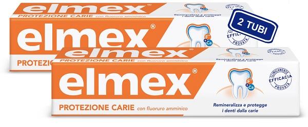 ELMEX DENTIFRICIO PROTEZIONE CARIE 75 ML X 2 PEZZI - Farmafamily.it