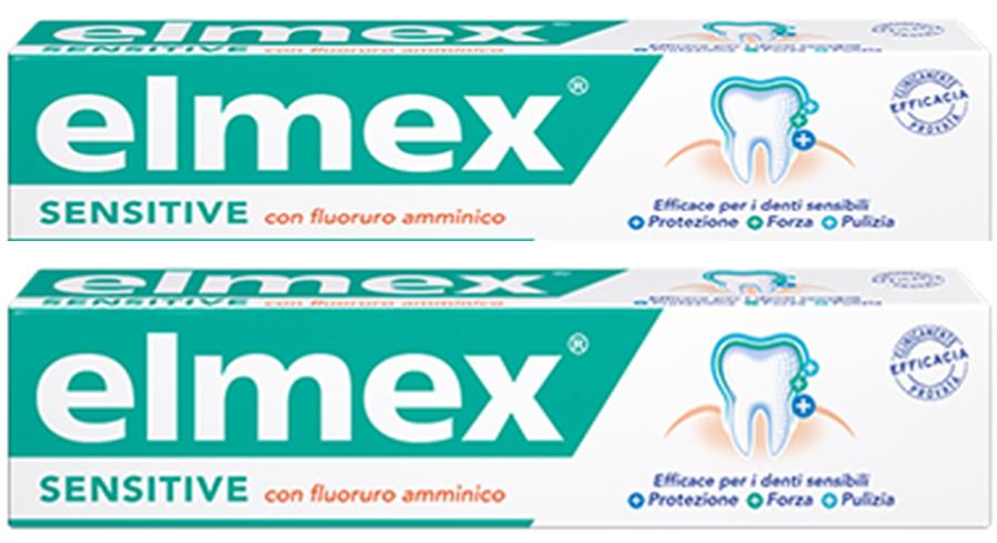 ELMEX SENSITIVE DENTIFRICIO BITUBO 2X75 ML - Farmacia Centrale Dr. Monteleone Adriano