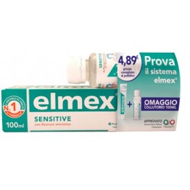 ELMEX SENSITIVE SPECIAL PACK 1 DENTIFRICIO ELMEX SENSITIVE 100 ML + 1 COLLUTORIO ELMEX SENSITIVE 100 ML IN OMAGGIO -