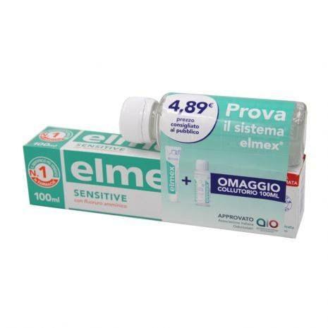 Elmex Sensitive Special Pack 1 Dentifricio Elmex Sensitive 100ml + 1 Collutorio Elmex Sensitive 100ml in omaggio - Arcafarma.it