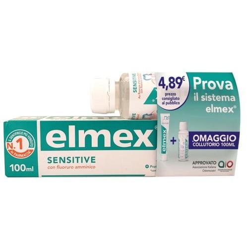ELMEX SENSITIVE  1 DENTIFRICIO ELMEX SENSITIVE 100 ML + 1 COLLUTORIO ELMEX SENSITIVE 100 ML IN OMAGGIO - FARMAPRIME