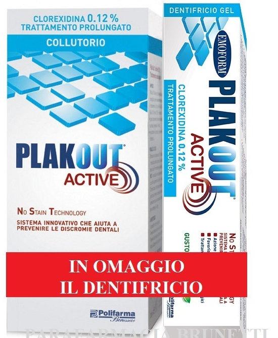 EMOFORM PLAKOUT ACTIVE 0,12 + DENTIFRICIO VENDITA - Farmaci.me