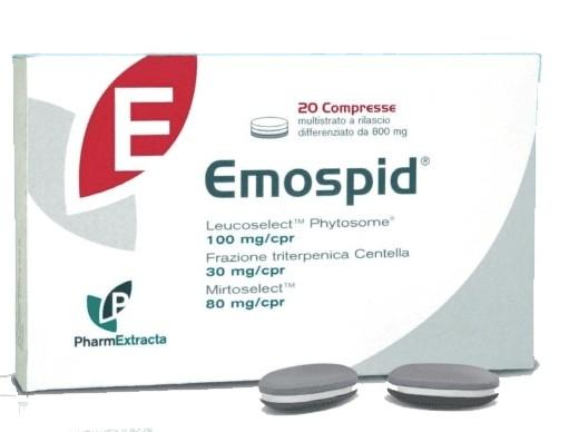 PharmExtracta Emospid Linea Circolazione Venosa Integratore Alimentare 20 Compresse - Farmastar.it