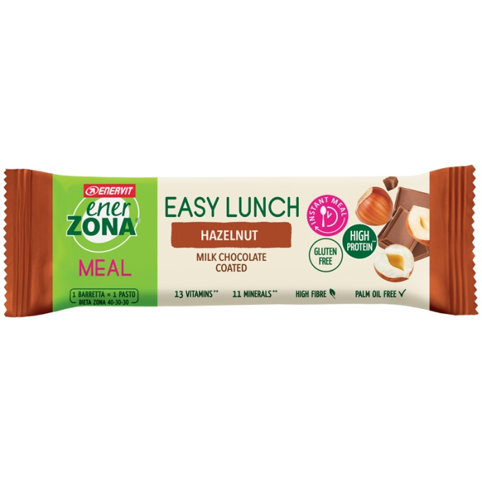 EnerZona Dieta a ZONA Snack Barretta Easy Lunch Hazelnut Nocciola 58 gr - Farmafamily.it