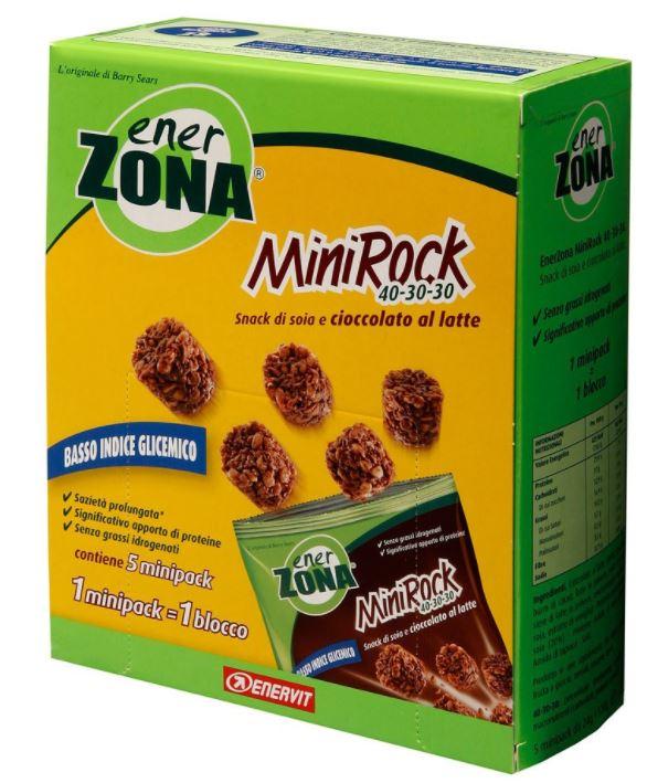 EnerZona Enervit  MiniRock 40-30-30  Snack Di Soia E Cioccolato Al Latte 5 Minipack 24g - Farmacia 33
