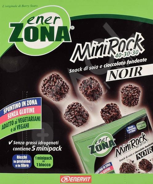 Enervit EnerZona MiniRock 40-30-30 Noir Snack Di Soia E Cioccolato Fondente 5 Minipack 24g - Farmacia 33