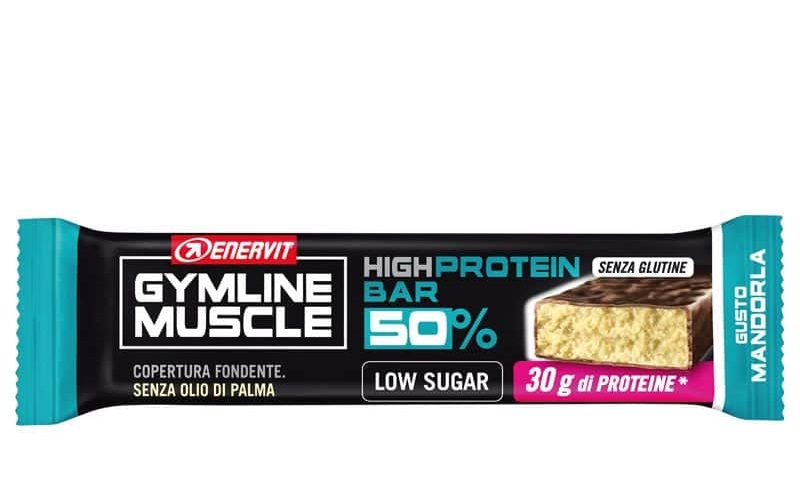ENERVIT GYMLINE MUSCLE PROTEIN BAR 50% MANDORLA 1 PEZZO - Farmafamily.it