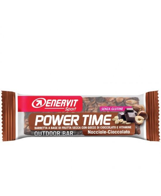 ENERVIT POWER TIME BARRETTA SENZA GLUTINE AL CIOCCOLATO 1 PEZZO - farmasorriso.com