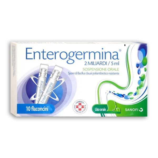 Enterogermina 2 Miliardi Sospensione Orale 10 Flaconcini da 5 ml - Arcafarma.it
