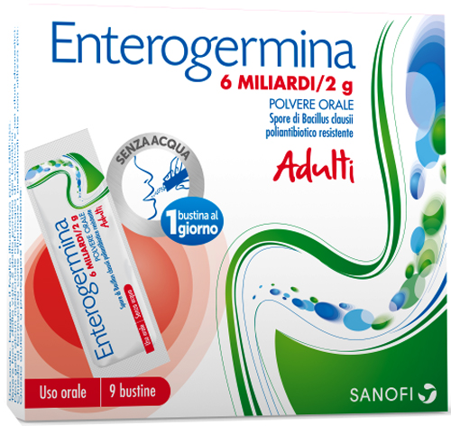 ENTEROGERMINA*OS 9BS 6MLD/2G - Farmacia Centrale Dr. Monteleone Adriano