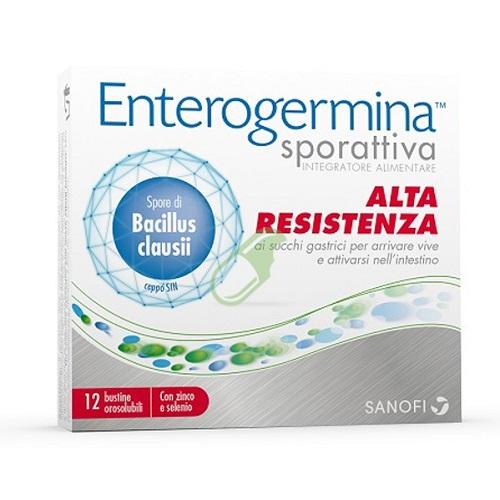 Enterogermina Sporattiva con Spore di Bacillus clausii Alta Resistenza ai succhi gastrici 12 bustine - Farmastar.it