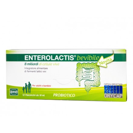 ENTEROLACTIS 12 FLACONCINI 10 ML - Farmapage.it