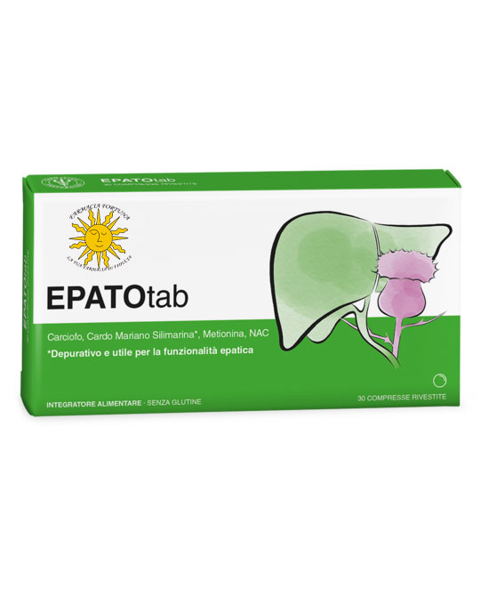 TuaFarmaonLine EPATOtab Integratore Digestione e Regolarità 30 Compresse - latuafarmaciaonline.it