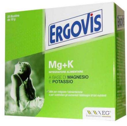 Ergovis MG+K Integratore Alimentare 20 Buste / Bustine - Farmacia 33