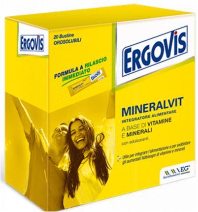 ERGOVIS MINERALVIT 20 BUSTE OROSOLUBILI 30 G - Farmacia33