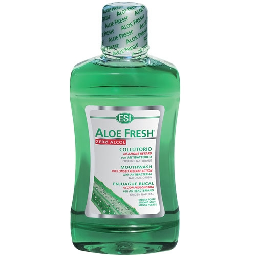 ESI Aloe fresh collutorio menta forte zero alcol 500ml - Iltuobenessereonline.it
