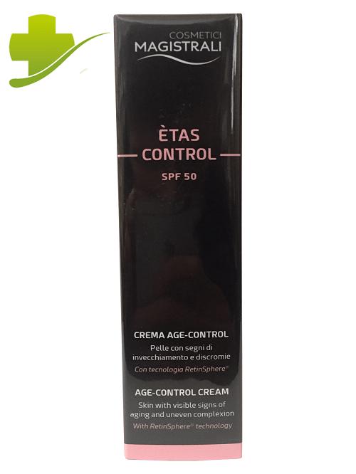 COSMETICI MAGISTRALI ETAS CONTROL CREMA VISO ANTIRUGHE CON FILTRO SOLARE SPF 50+  50 ML - Farmastar.it