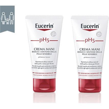 EUCERIN BIPACCO PH5 CREMA MANI 75 ML + 75 ML - Farmaciasconti.it