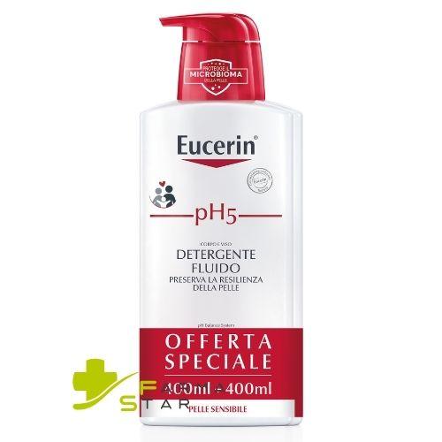 EUCERIN BIPACCO PH5 FLUIDO DETERGENTE 400 +400 ML - Farmastar.it