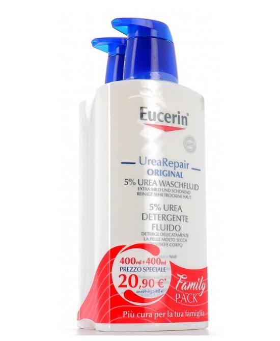 EUCERIN FLUIDO DETERGENTE 5 UREA 2 X 400 ML 19 - Farmaci.me