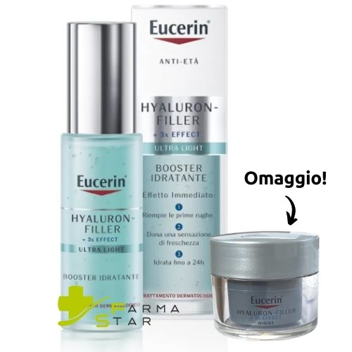 Hyaluron Filler Booster Idratante Viso 30 ml Eucerin + Hyaluron Filler Contorno Occhi Spf15 15 ml IN OMAGGIO - Farmastar.it