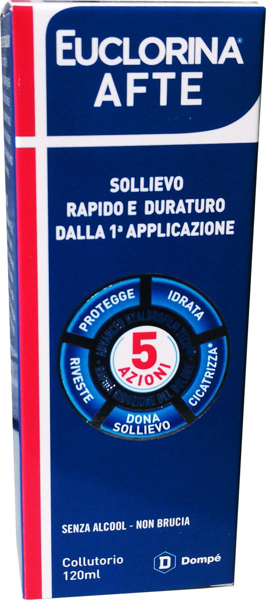 EUCLORINA AFTE COLLUTORIO 120 ML - Farmacia Centrale Dr. Monteleone Adriano