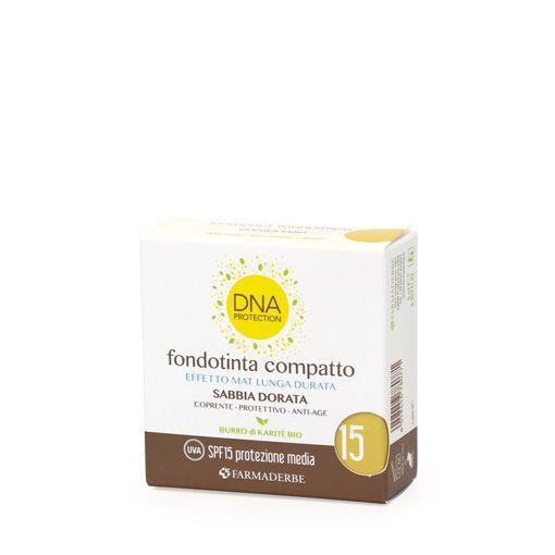 Farmaderbe DNA Fondotinta Compatto Sabbia Dorata SPF 15 - Iltuobenessereonline.it
