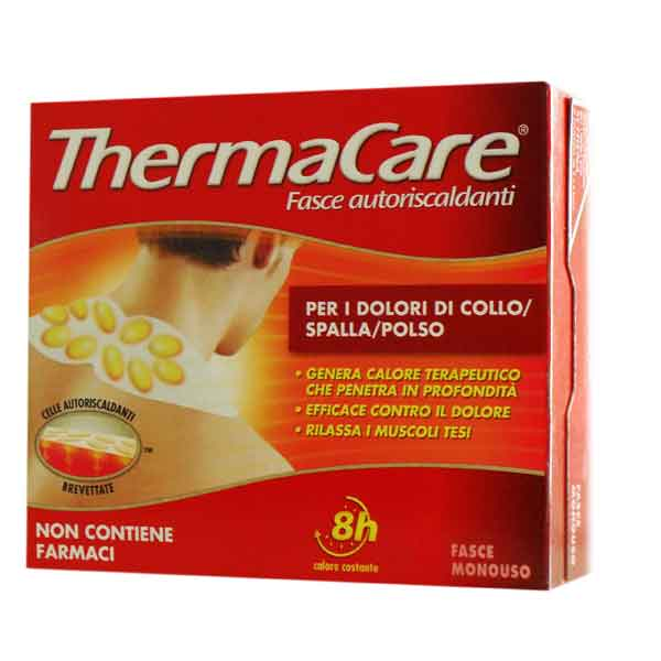 Fasce autoriscaldanti a calore terapeutico thermacare collo spalla polso 2 pezzi - FARMAEMPORIO