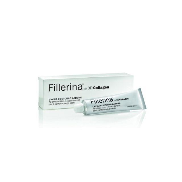 FILLERINA 3D COLLAGEN CREMA CONTORNO LABBRA GRADO 3 PLUS, 15ML - pharmaluna