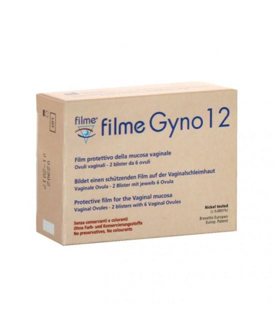 Filme Gyno 12 Ovuli Vaginali 2 Blister Da 6 Ovuli - Zfarmacia