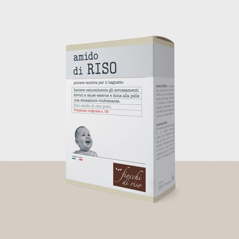 FIOCCHI DI RISO AMIDO DI RISO POLVERE LENITIVO 100 G - pharmaluna