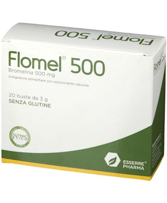 FLOMEL 500 20 BUSTINE - Farmaci.me