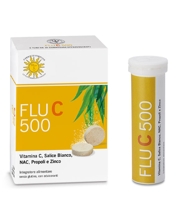 Flu C 500 Integratore Vitamina C 20 Compresse Effervescenti - latuafarmaciaonline.it