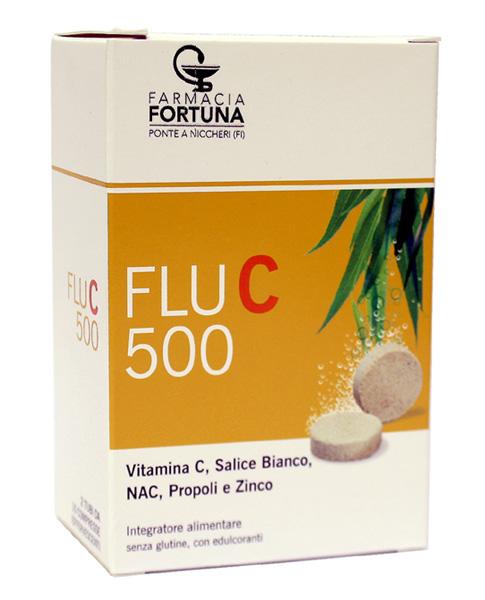 TuaFarmaonLine FLU C 500 Integratore Vitamina C 20 Compresse Effervescenti - latuafarmaciaonline.it