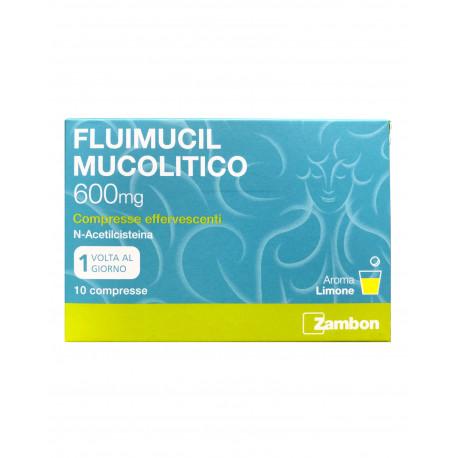 FLUIMUCIL MUCOLITICO 10 COMPRESSE EFFERVESCENTI 600MG - Nowfarma.it