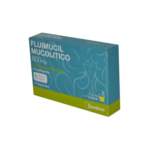 Fluimucil Mucolitico 600mg 10 Compresse Effervescenti - Arcafarma.it