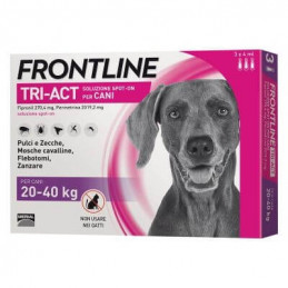 FRONTLINE TRI-ACT 3 PIPETTE 20-40 KG - La farmacia digitale