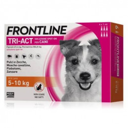 FRONTLINE TRI-ACT 3 PIPETTE 5-10 KG - La farmacia digitale
