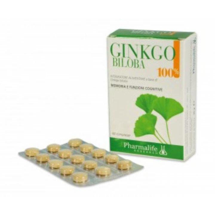 PHARMALIFE GINKGO BILOBA 100% 60 COMPRESSE - Iltuobenessereonline.it