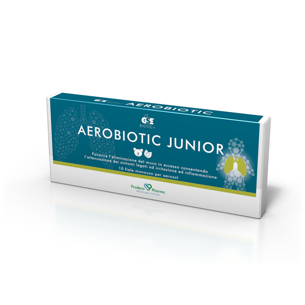 [Aerosolterapia] GSE AEROBIOTIC JUNIOR 10FLACONCINI DA 50ML - Farmaci.me