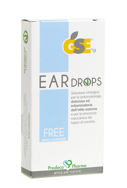 GSE EAR DROPS FREE 10 PIPETTE 0,3 ML - Parafarmacia la Fattoria della Salute S.n.c. di Delfini Dott.ssa Giulia e Marra Dott.ssa Michela