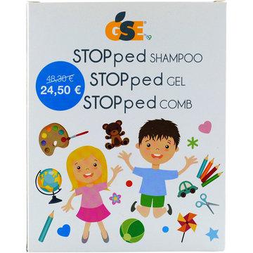 GSE STOPPED SHAMPOO 150 ML + GSE STOPPED GEL 50 ML + GSE STOPPED COMB PETTININO - Farmacia Bartoli