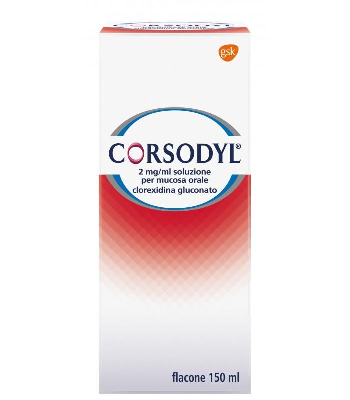 Gsk Corsodyl Soluzione Orale 200mg/100ml Disinfettante Del Cavo Orale Flacone 150ml - Farmastar.it