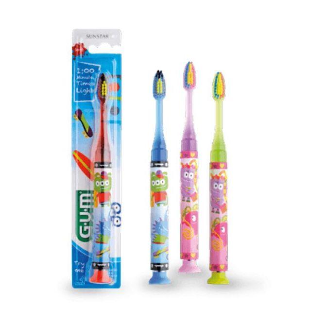 GUM LIGHT UP SPAZZOLINO  7-9 ANNI colori assortiti - Farmapage.it