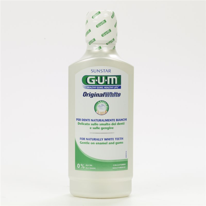 Gum original white collutorio 500ml - Iltuobenessereonline.it