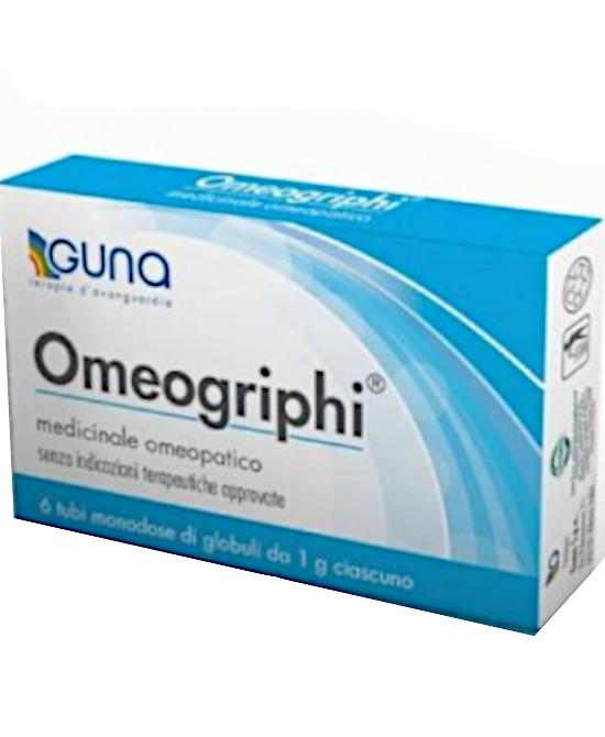OMEOGRIPHI GLOBULI 6 TUBI 1 G | OFFERTA A TEMPO FINO AL 31 OTTOBRE - Farmaci.me
