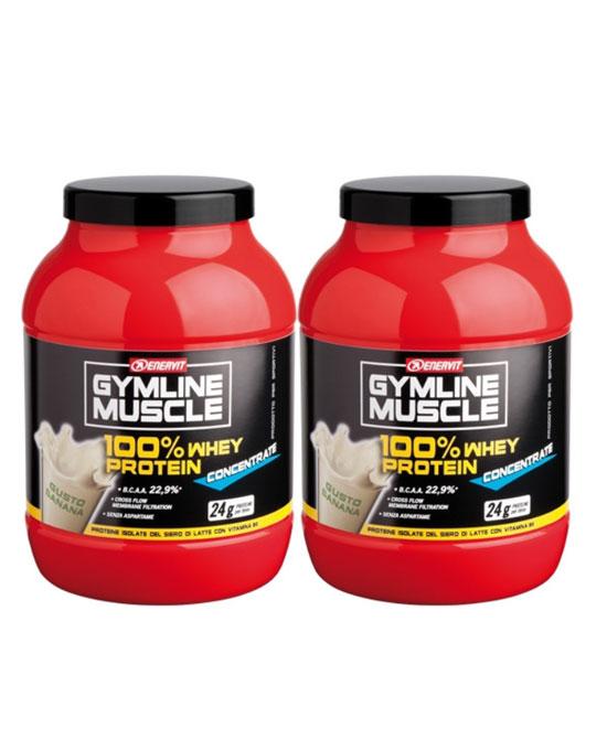 GYMLINE 100% WHEY CONCENTRATE VANIGLIA 2X700 G. SCADENZA 31 MARZO 2020 - La tua farmacia online